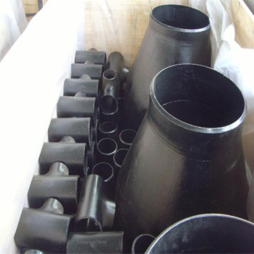 Black carbon steel concentric seamless pipe fitting reducer