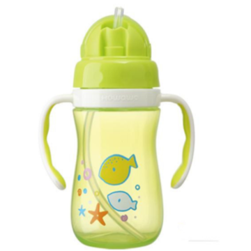 Plastic Baby Water Drinking Bottle Training Cup 380ml