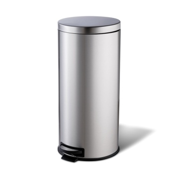 30L Stainless Steel Pedal Dustbin for Shopping Mall and Office