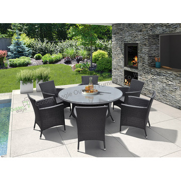 Garden  aluminium Dining Table With 6 Chairs