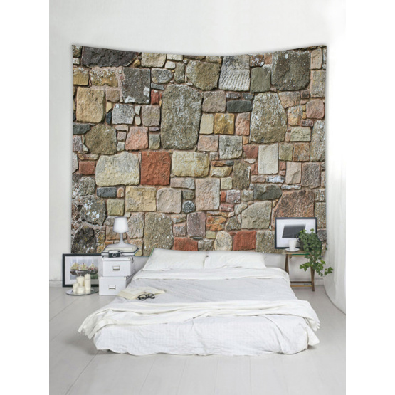 Colored Brick Wall Tapestry Stone Tapestry Wall Hanging Tapestry Polyester Natural Print for Livingroom Bedroom Home Dorm Decor