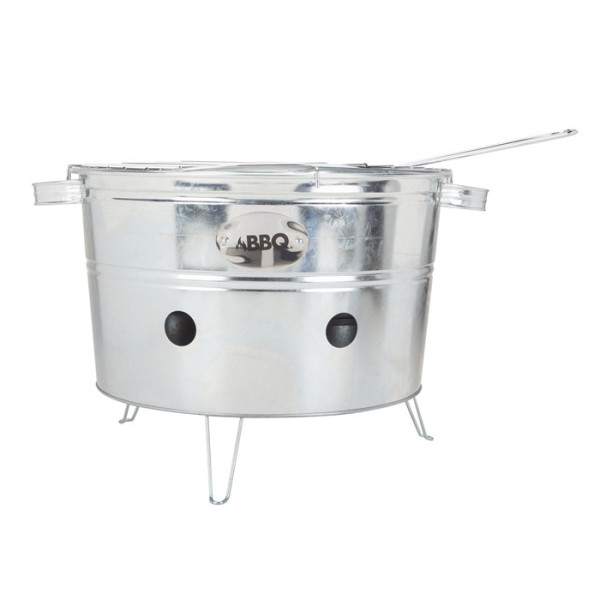 Round Mini Charcoal BBQ Grills For Campers