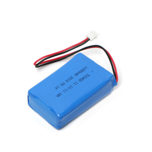 523450 3S1P 11.1V 1000mAh Lithium Polymer Battery Pack