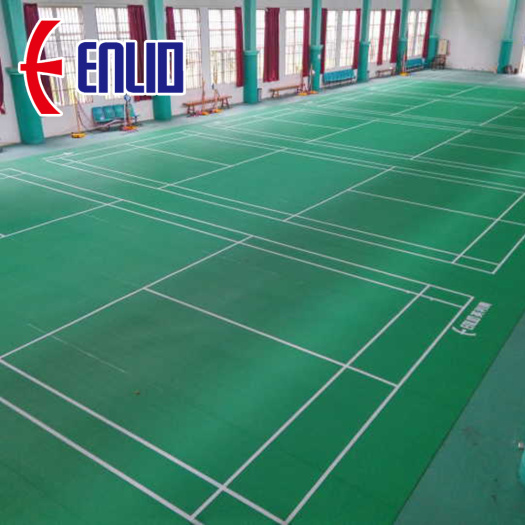 PVC Rolls Mats for Badminton Court with BWF