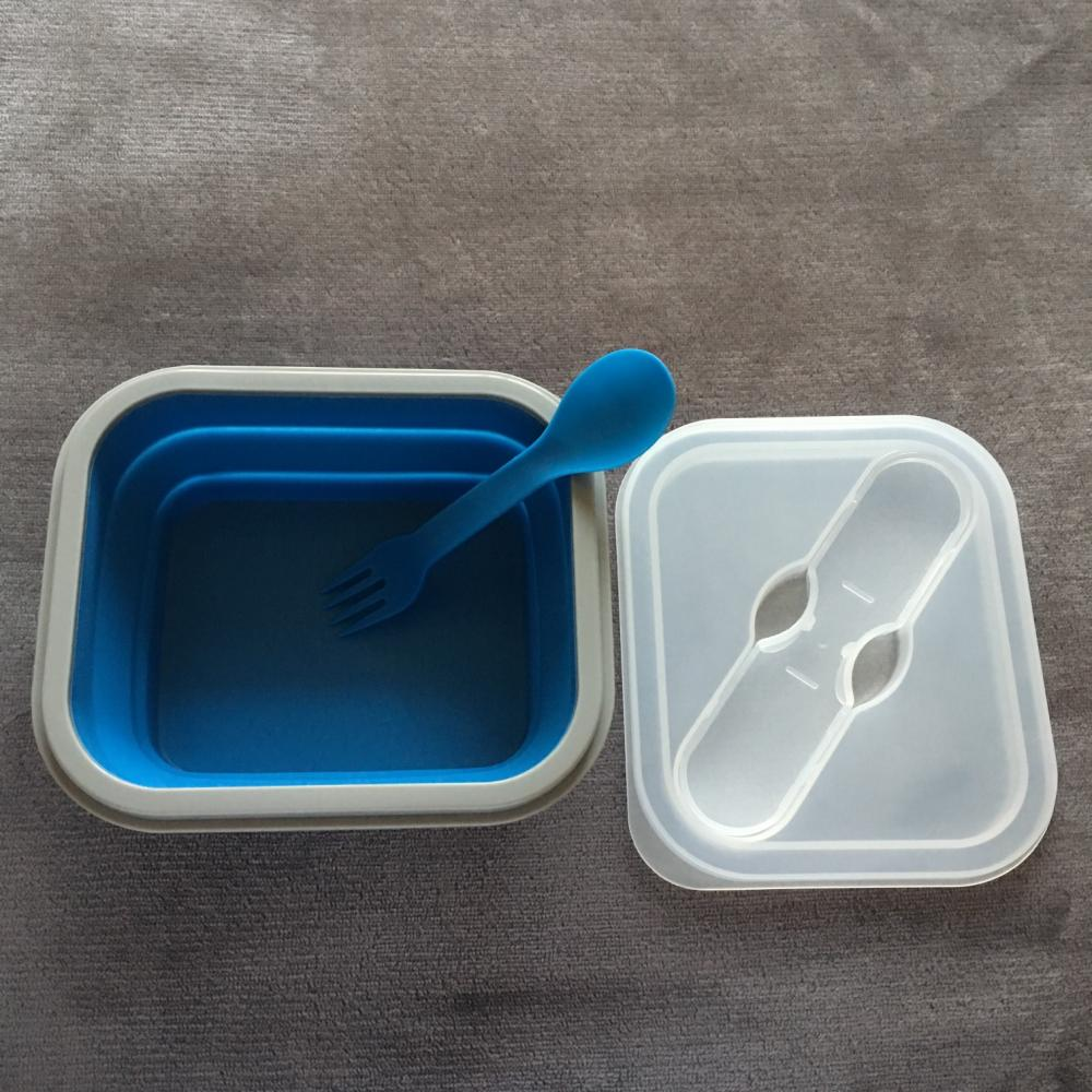 portable silicone bento box