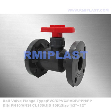 UPVC Flanged Ball Valve ANSI CL150