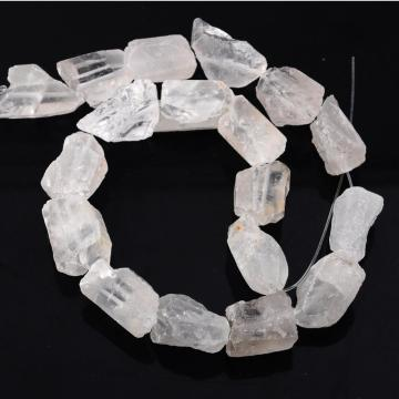 Natural Raw Rough Cleary Crystal Jewelry Crystal Gemstone Beads