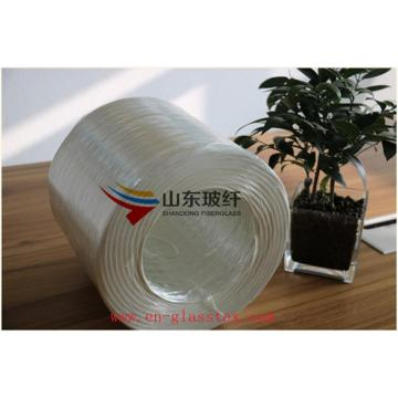 Untwisted roving for transparent board material