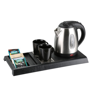 Welcome hotel hospitality tray with kettle