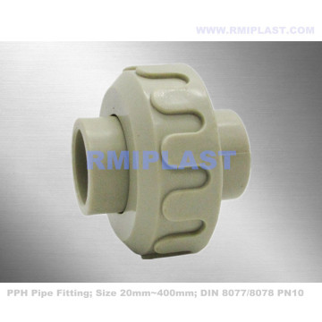 PPH Union Pipe Fitting DIN