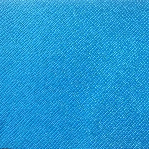 Cross Pattern Embossing PVC Leather for Making Bags