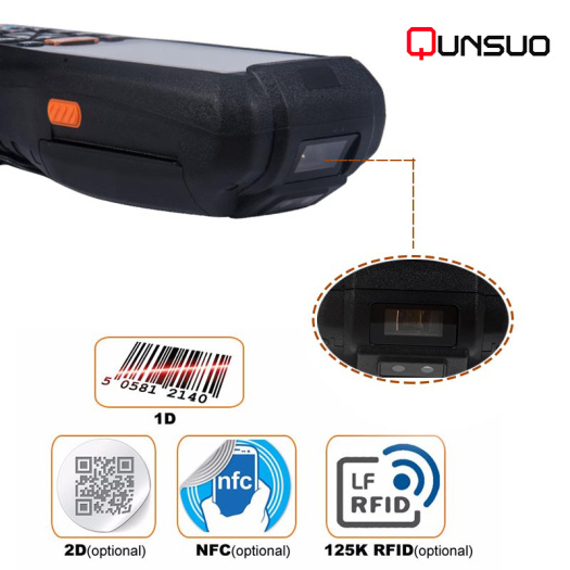 3.5inch handheld barcode scanner with printer wireless