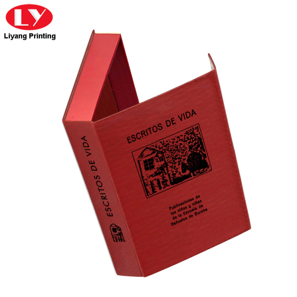 Red Fancy Texture Cardboard Magnetic Jewelry Box Packaging