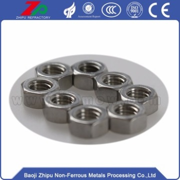 Tantalum screw and nut for vacuum equipment