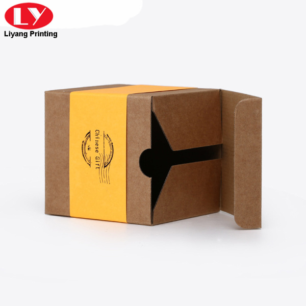 Self-fold bottom candle glass kraft packaging box