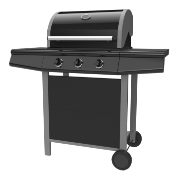 Three Burner Outdoor Gas BBQ Grill