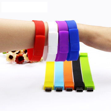 wristband/bracelet USB flash drive silicone pendrive