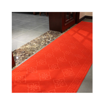 Waterproof embossed floor corridor carpet for hotel