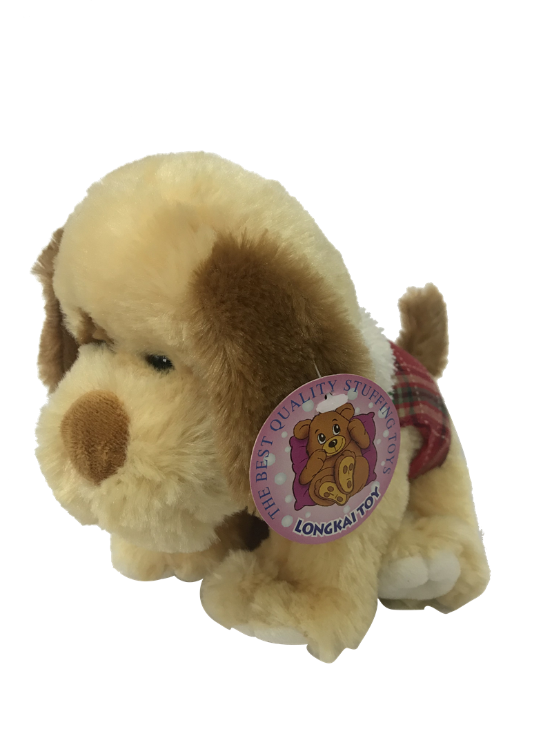 Beige Plush Dog