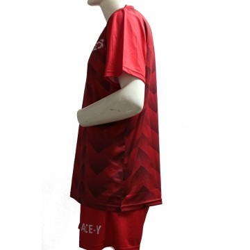 sublimation dri fit red new soccer jerseys