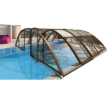 Hard Cover Above Ground Plastic Glass Swimming Pool