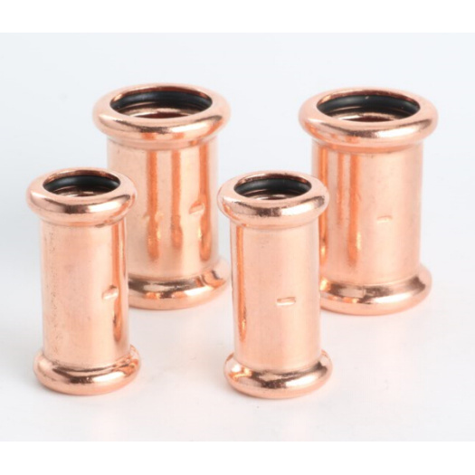 Copper M-profile press fitting for water