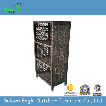KD rattan furniture wicker storage bookshelf