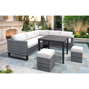 popular nice sofa set wicker aluminum sofa set