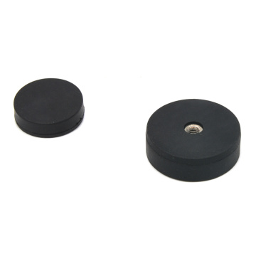 Rubber Magnet Round Base Thread Hole Type