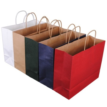 Ecofriendly Kraft Paper Bags With Twisted Handle