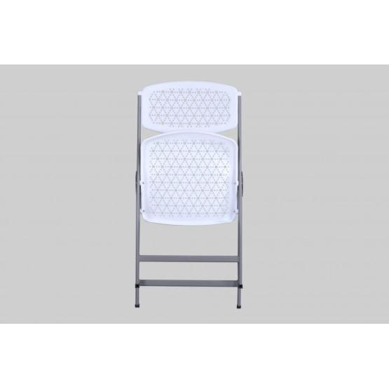 Plastic Party Folding Chair with Metal Frame