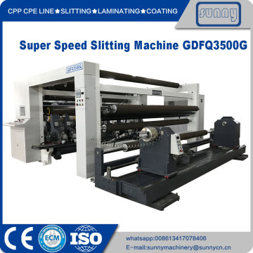Super speed Slitter Rewinder Machine jumbo roll
