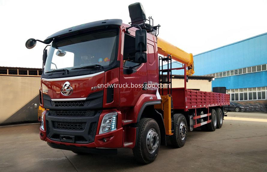 manual truck mounted crane 1
