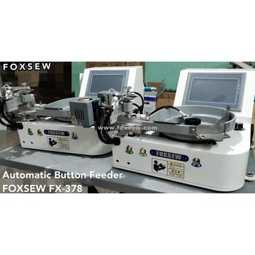 Button Attaching Sewing Machine with Auto-Feeder Device