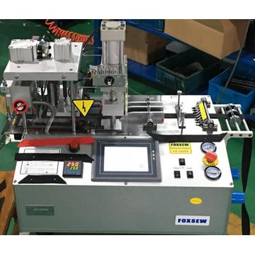 Automatic Webbing Cutting Machine with Hole Puncher