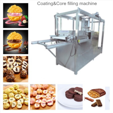 Popcorn coated and core filled making machine