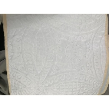 White Color Ultrasonic Microfiber Fabrics