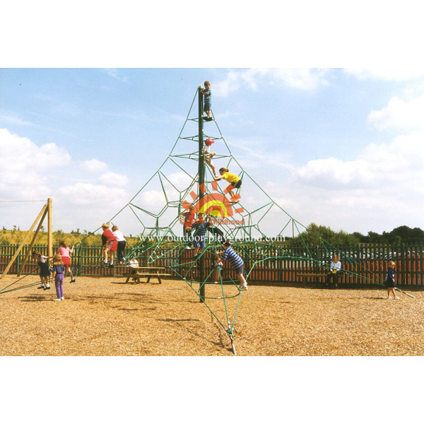 Wooden Freestanding Net Climber For Kids