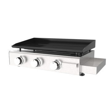 Three Burner Griddle With Condiment Box