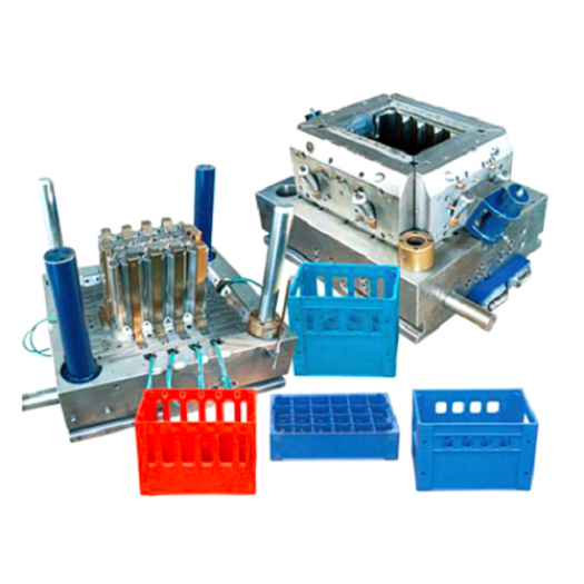 Plastic injection vegetable crate mould