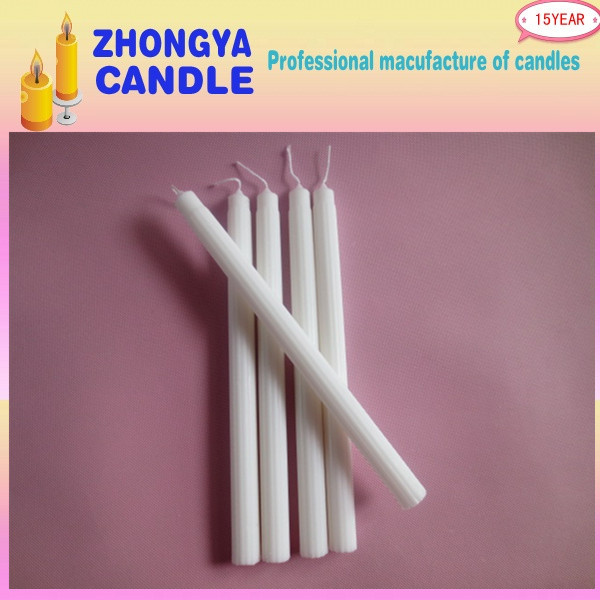 White Color Paraffin Wax Making Fluted Candle