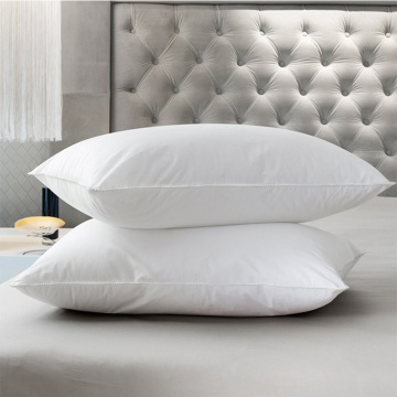 Cheap White Polyester Filling Hotel Pillow With Cover