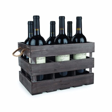 6 bottles Wood storage crate antique vintage wine crates