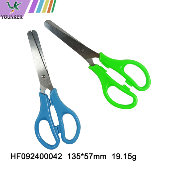 Colorful plastic handle school office stationery scissors