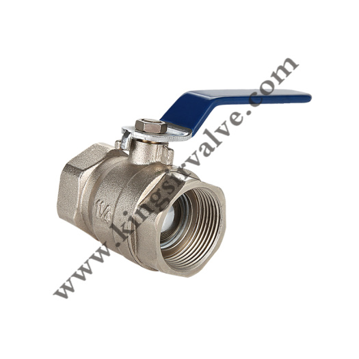 BLACK HANDLE BRASS BALL VALVE