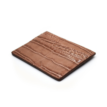 Genuine Crocodile Leather Credit Id Card Holder
