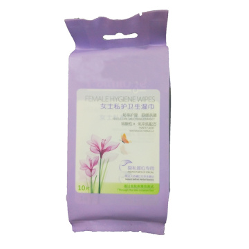 Biodegradable Female Vaginal Clean Medical Hygiene Wipes