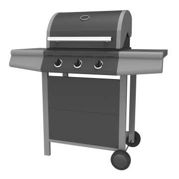 Three Burner Gas Barbecue Grill