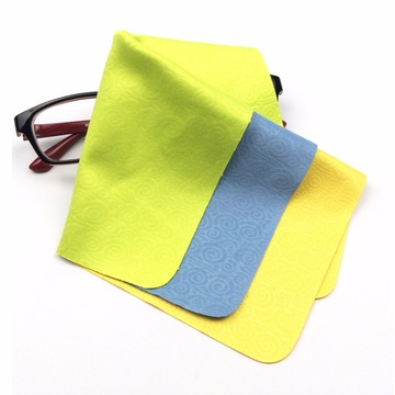 debossed printed polyester brushed microfiber fabric cloth