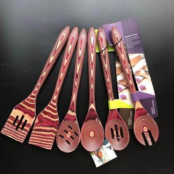 Wooden kitchen utensils set of 6 pcs